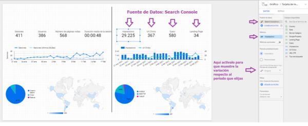 fuente de datos search console data studio