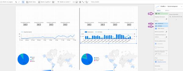 lineas tendencias data studio datos